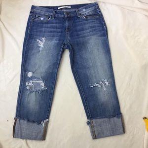 Joes Raw Cuff Kicker Kursten Cropped Capri Jeans